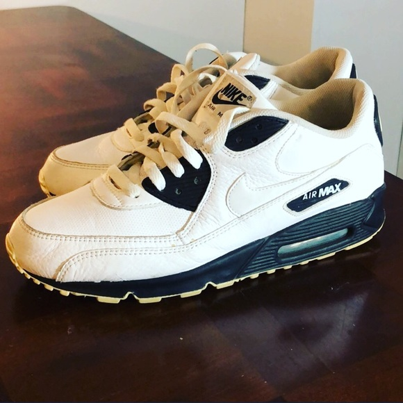Nike Air Max 90 Womens Shoes Black Purple Leather 2008 Size